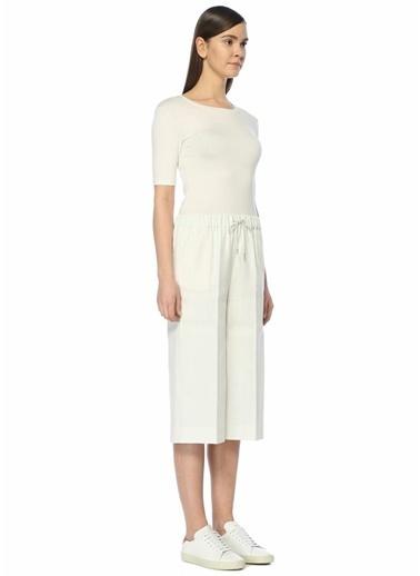 Fabiana Filippi Yüksek Bel Kısa Keten Pantolon Beyaz